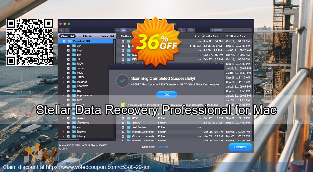 Get 36% OFF Stellar Data Recovery Professional for Mac Coupon