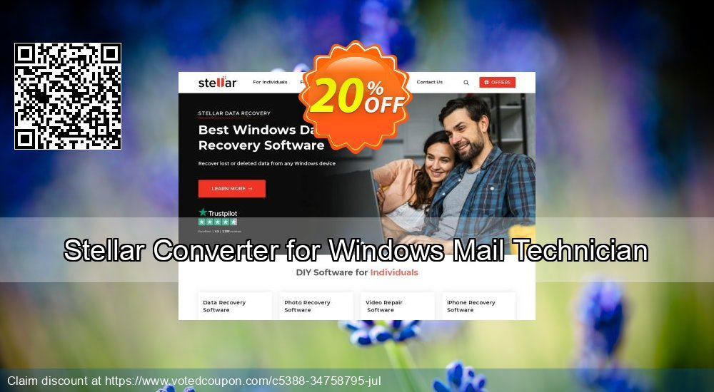 Get 20% OFF Stellar Converter for Windows Mail Technician Coupon
