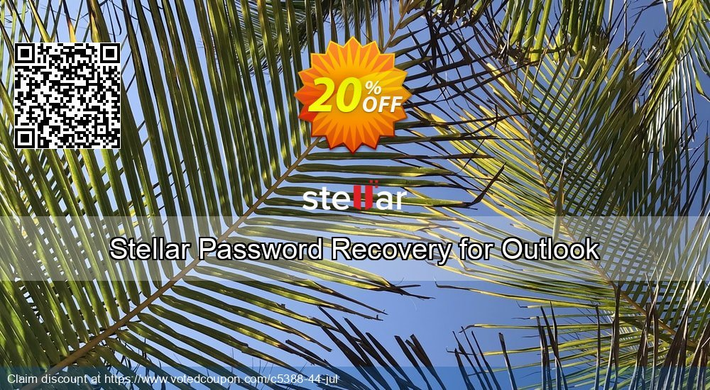 Get 20% OFF Stellar Phoenix Outlook Password Recovery Coupon