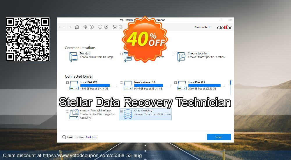 Get 68% OFF Stellar Data Recovery Technician Coupon