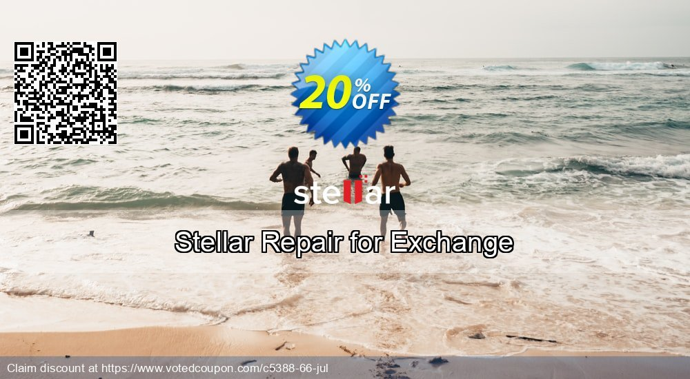 Get 20% OFF Stellar Repair for Exchange Coupon