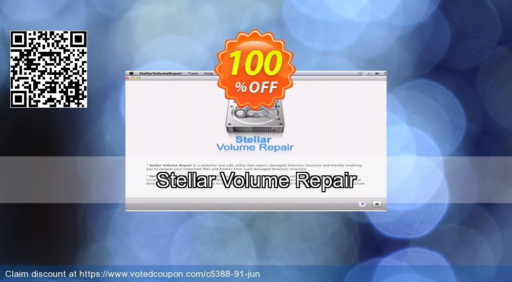 Get 100% OFF Stellar Volume Repair discounts