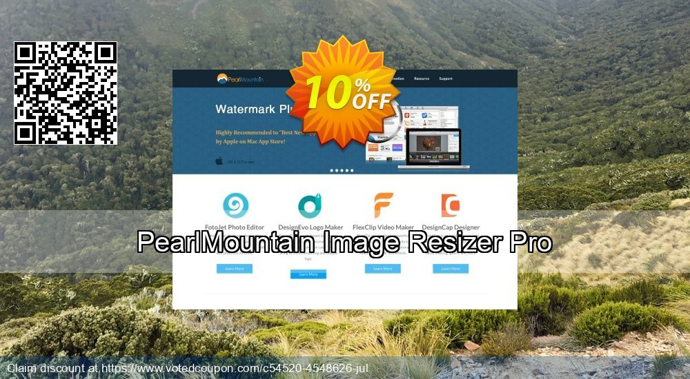 Get 10% OFF PearlMountain Image Resizer Pro offering sales
