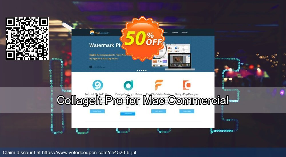 Get 10% OFF CollageIt Pro for Mac Commercial offer