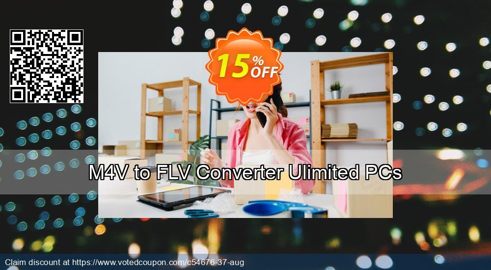 Get 15% OFF M4V to FLV Converter Ulimited PCs offering sales