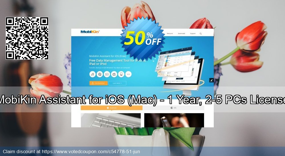 Get 50% OFF MobiKin Assistant for iOS (Mac) - 1 Year, 2-5 PCs License discount