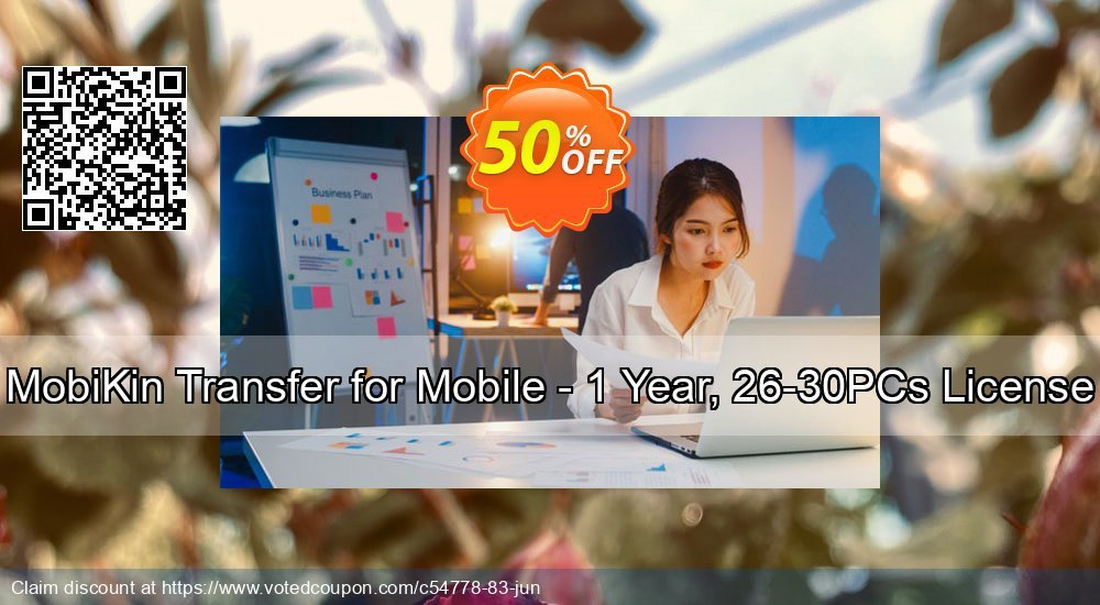 Get 50% OFF MobiKin Transfer for Mobile - 1 Year, 26-30PCs License offering sales