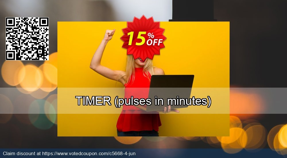 Get 15% OFF TIMER (pulses in minutes) offering sales