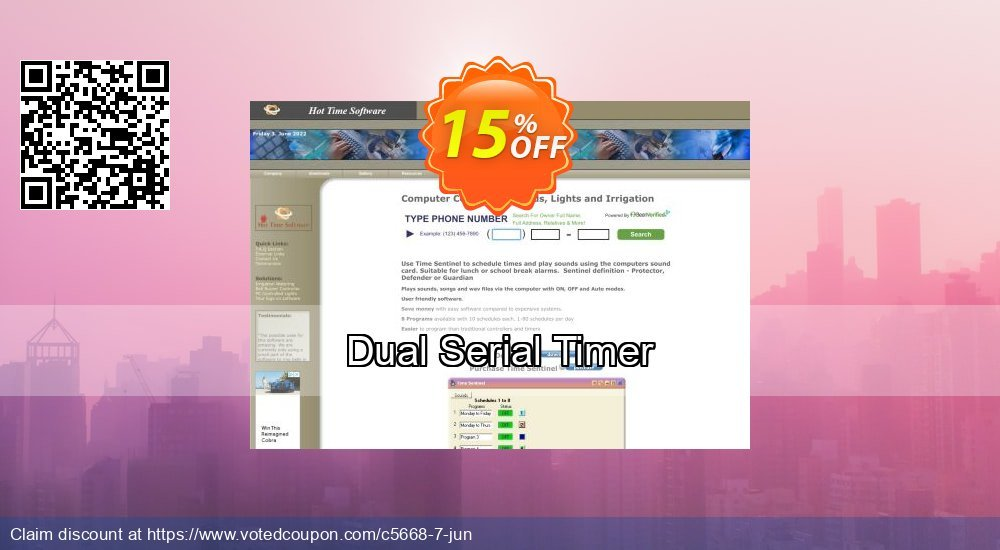 Get 15% OFF Dual Serial Timer offering sales
