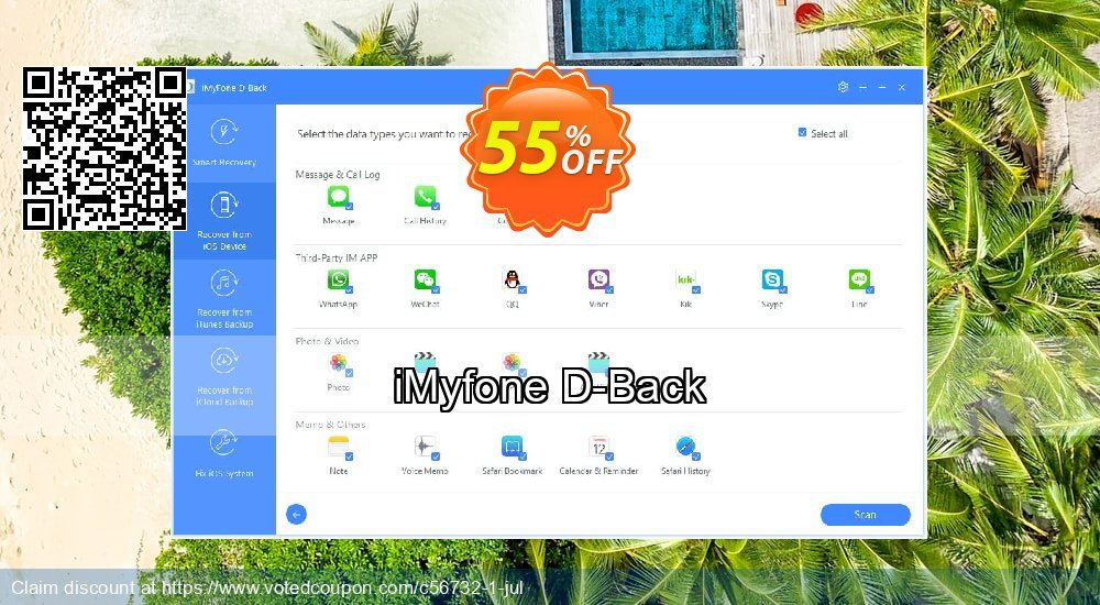 Get 44% OFF iMyfone D-Back Coupon