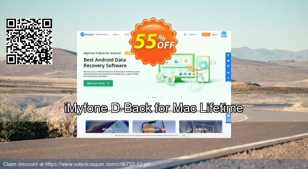 Get 46% OFF iMyfone D-Back for Mac - Family Coupon