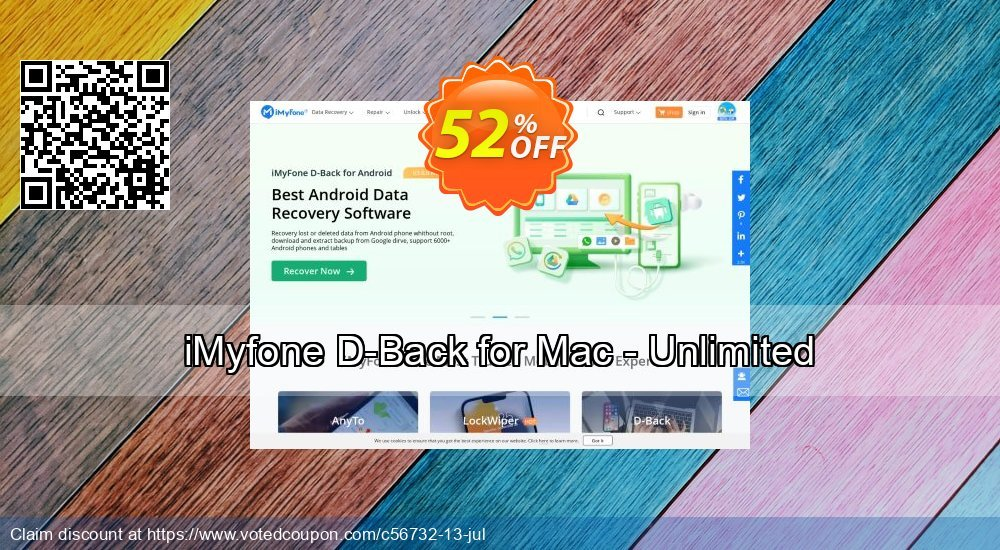 Get 52% OFF iMyfone D-Back for Mac - Unlimited Coupon