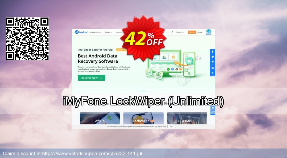 Get 42% OFF iMyFone LockWiper - Business License promo sales