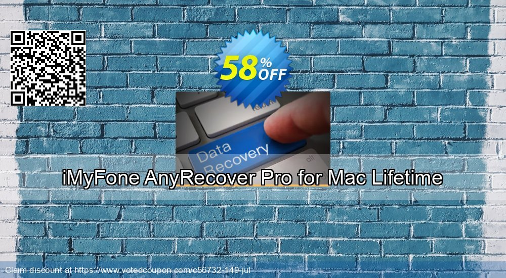 Get 44% OFF iMyFone AnyRecover for Mac (Lifetime) Coupon