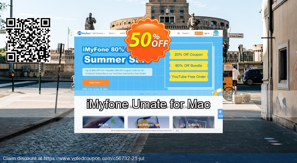 Get 50% OFF iMyfone Umate for Mac promotions