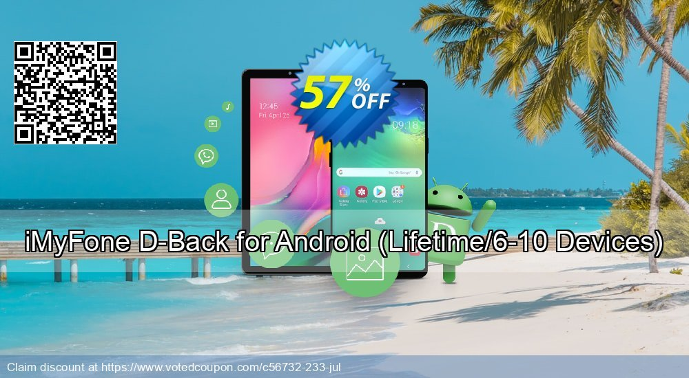 Get 57% OFF iMyFone D-Back for Android, Lifetime/6-10 Devices Coupon