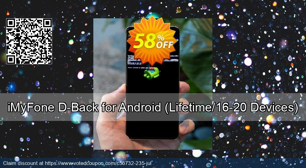 Get 58% OFF iMyFone D-Back for Android, Lifetime/16-20 Devices Coupon