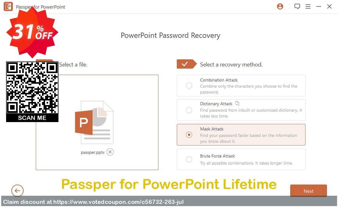 Get 31% OFF Passper for PowerPoint Lifetime Coupon