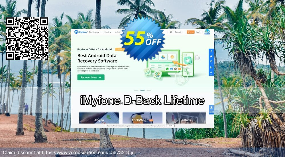 Get 30% OFF iMyfone D-Back coupon code - Family License Coupon