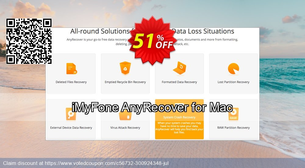 Get 43% OFF iMyFone AnyRecover for Mac (1 Year) Coupon