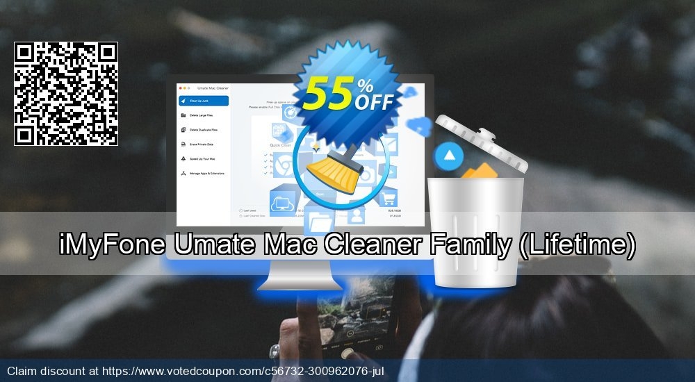 Get 55% OFF iMyFone Umate Mac Cleaner Family (Lifetime) offering sales