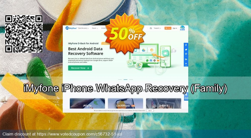 Get 50% OFF iMyfone iPhone WhatsApp Recovery (Family) Coupon