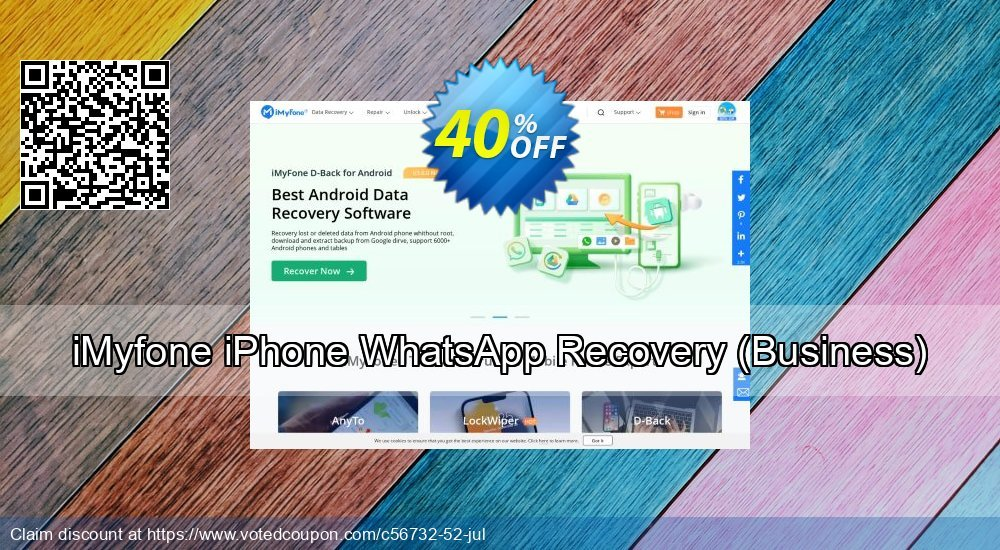 Get 40% OFF iMyfone iPhone WhatsApp Recovery, Business Coupon