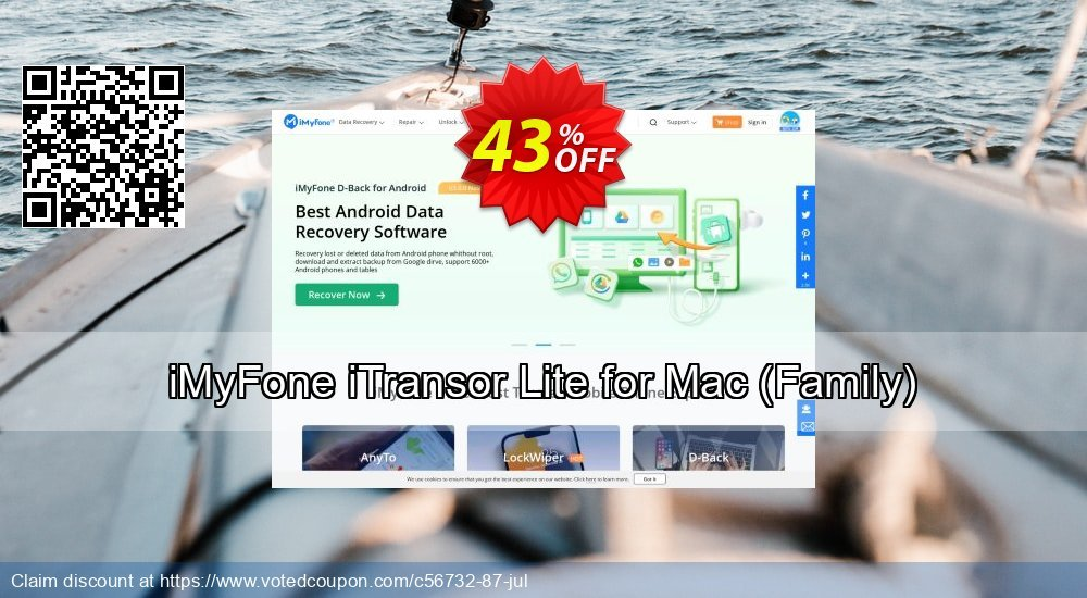 Get 43% OFF iMyFone iTransor Lite for Mac (Family) offering sales