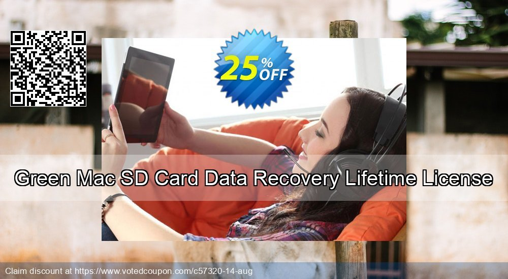 Get 25% OFF Green Mac SD Card Data Recovery Lifetime License discount