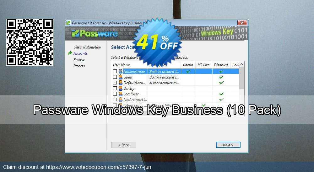 Get 49% OFF Passware Windows Key Business, 10 Pack Coupon