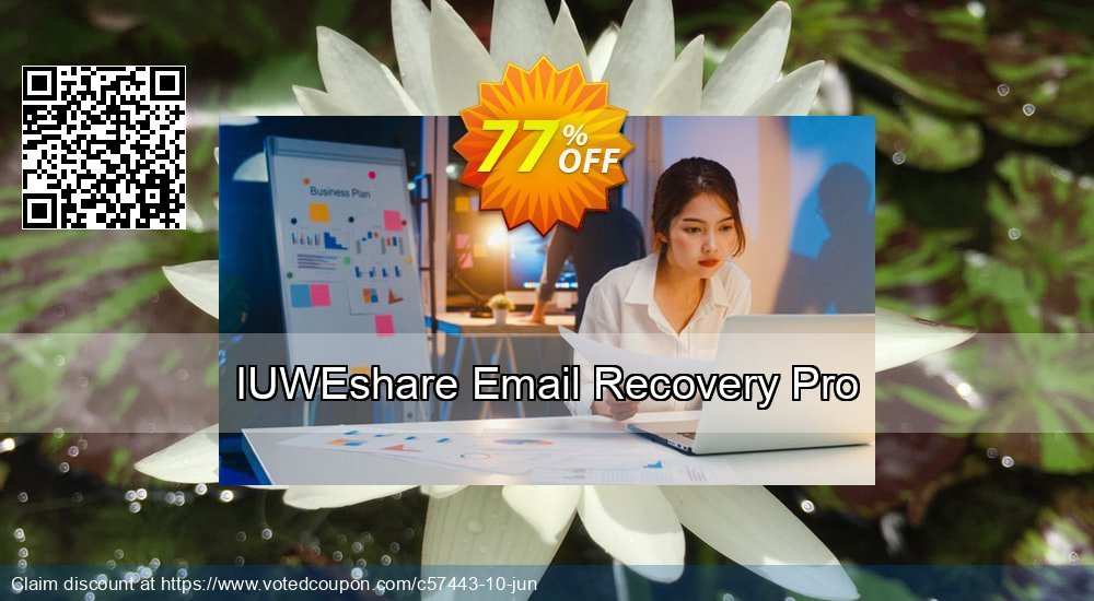 Get 77% OFF IUWEshare Email Recovery Pro promo sales