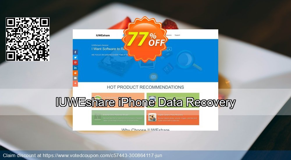 Get 77% OFF IUWEshare iPhone Data Recovery offering sales