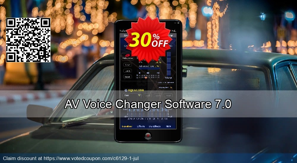 Get 30% OFF AV Voice Changer Software offering deals