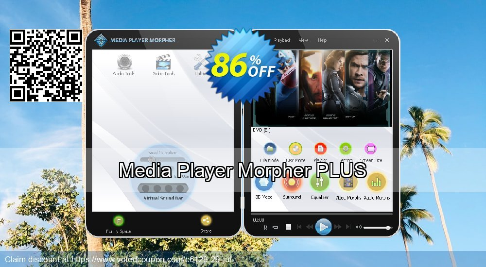Get 85% OFF Media Player Morpher PLUS offering sales