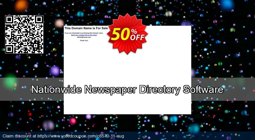 Get 50% OFF Nationwide Newspaper Directory Software offering sales