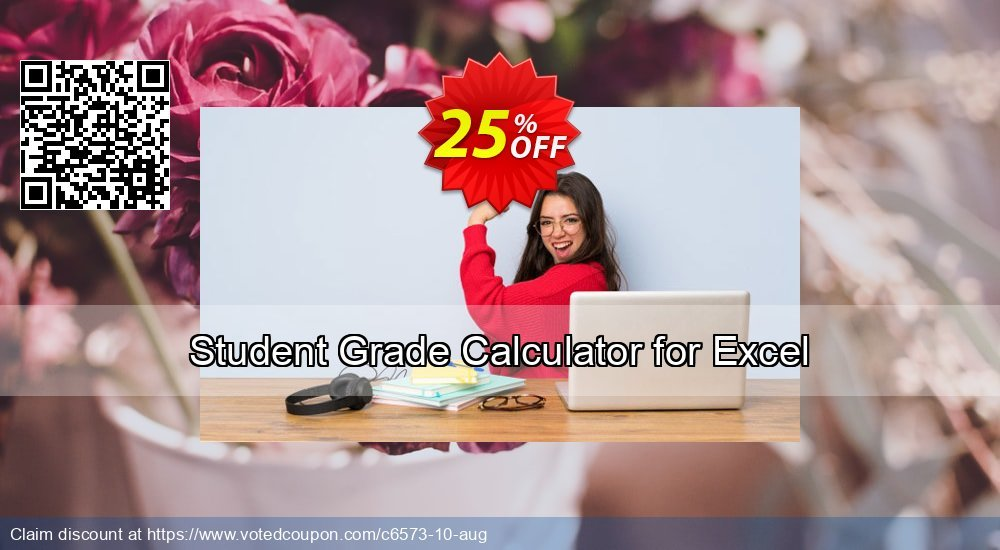 Get 25% OFF Student Grade Calculator for Excel promo