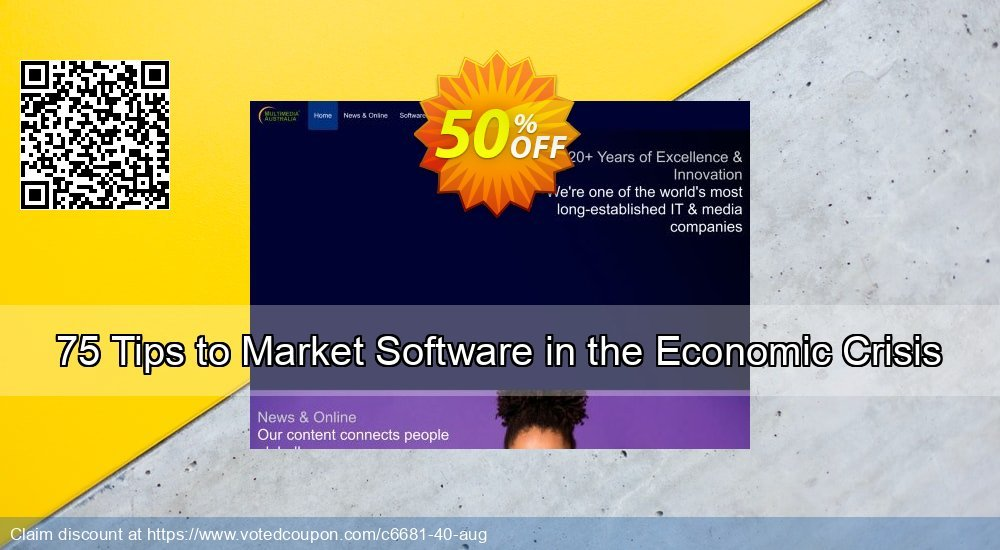 Get 50% OFF 75 Tips to Market Software in the Economic Crisis offering sales