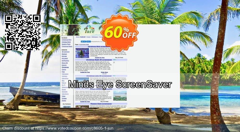 Get 60% OFF Minds Eye ScreenSaver offering discount