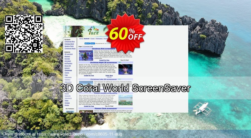 Get 60% OFF 3D Coral World ScreenSaver offering sales