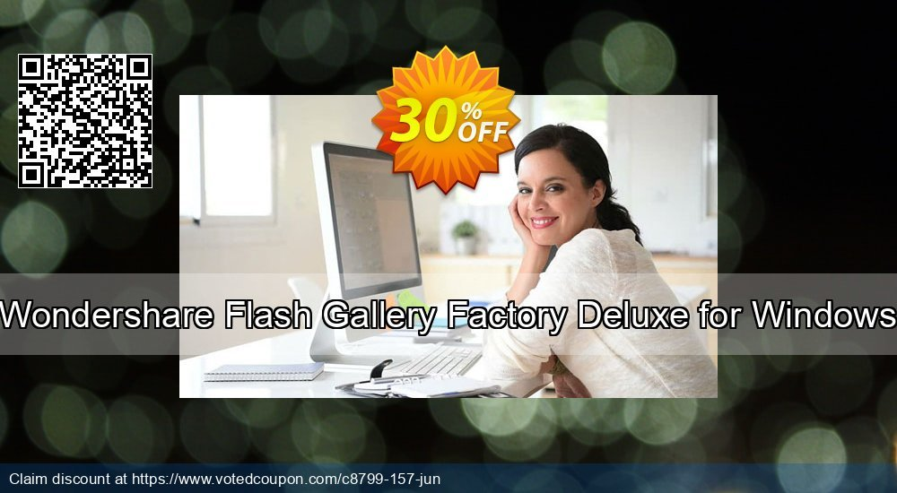 Get 30% OFF Wondershare Flash Gallery Factory Deluxe for Windows offering sales