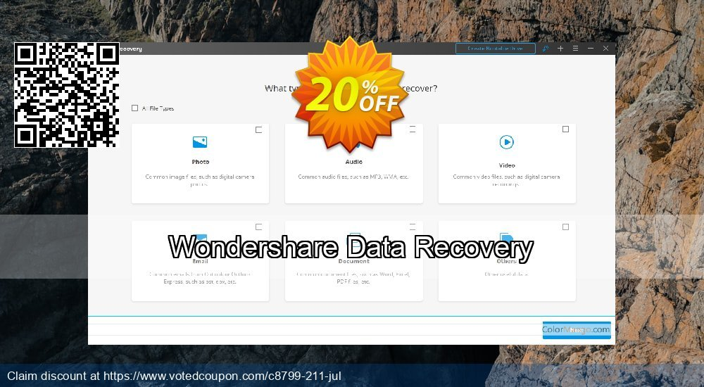 Get 32% OFF Wondershare Data Recovery for Windows Coupon