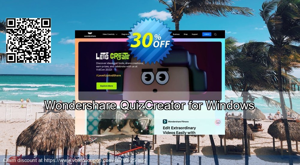 Get 30% OFF Wondershare QuizCreator for Windows offer