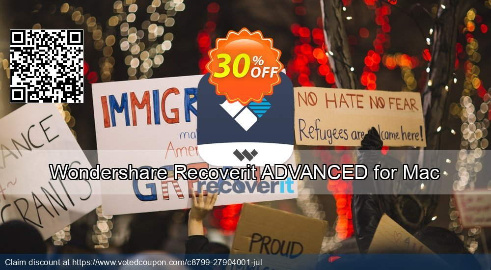 Get 30% OFF Recoverit Advanced for Mac Coupon