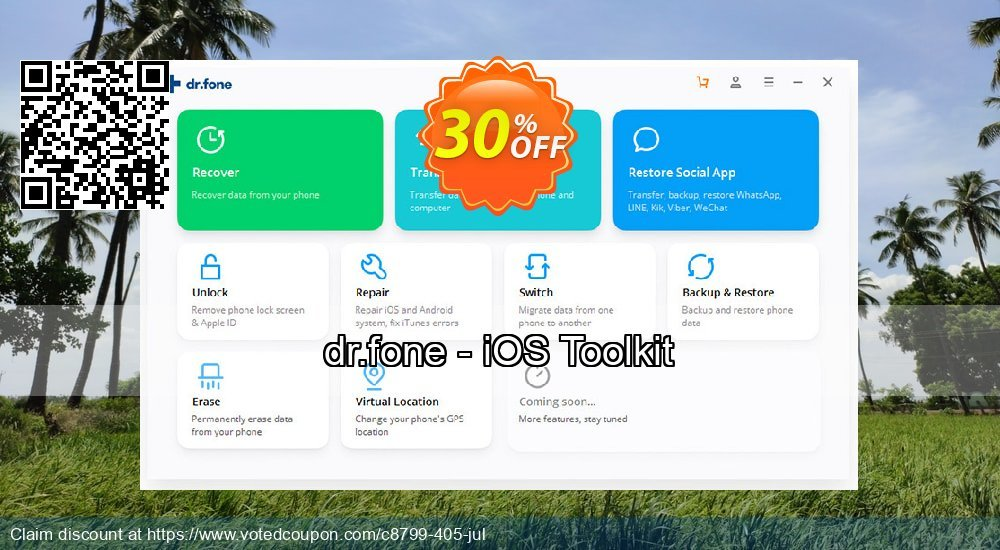Get 30% OFF dr.fone - iOS Toolkit Coupon