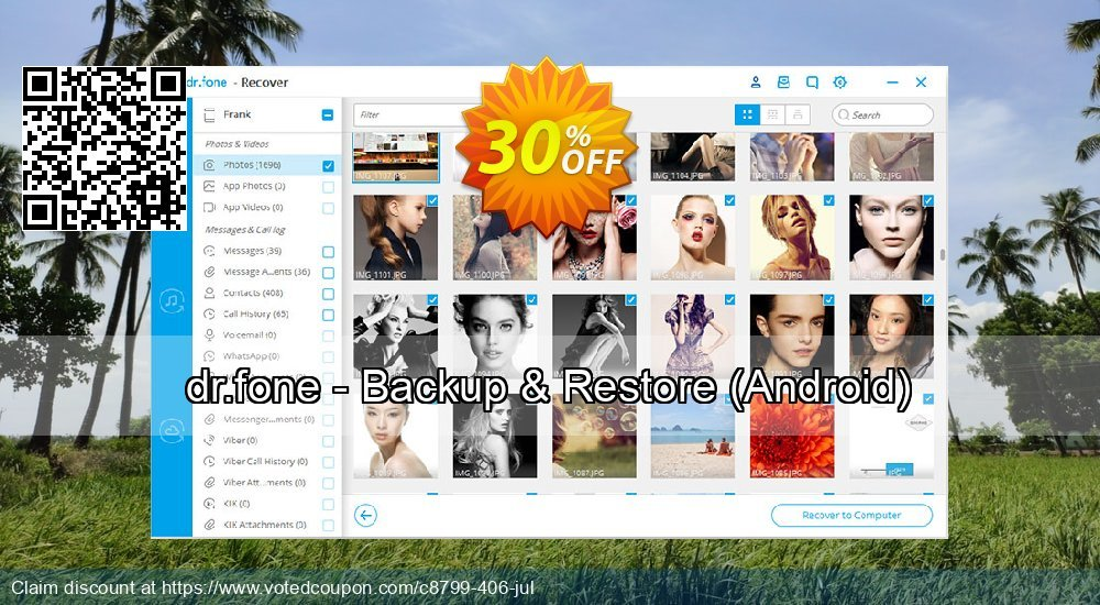 Get 34% OFF dr.fone - Backup & Restore, Android Coupon