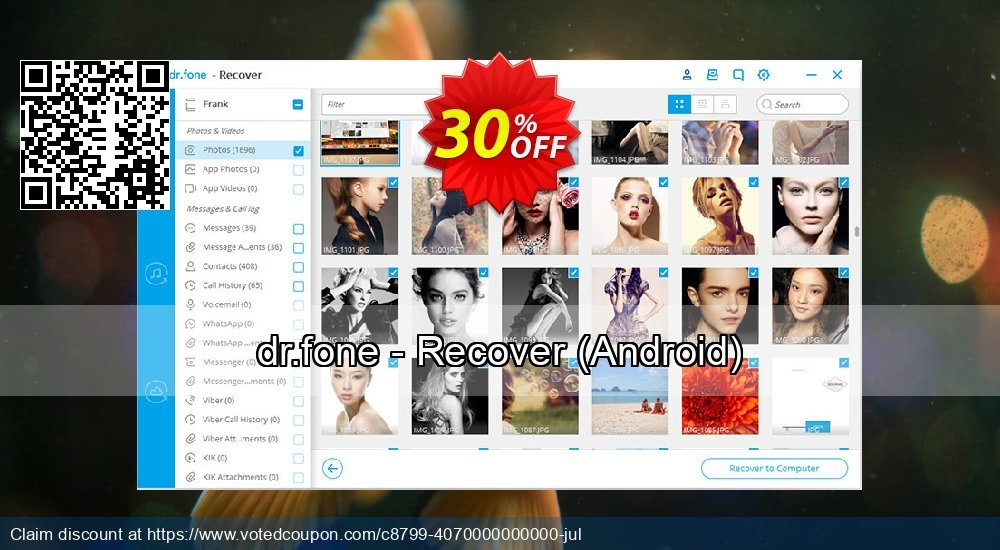 Get 31% OFF dr.fone - Recover, Android Coupon