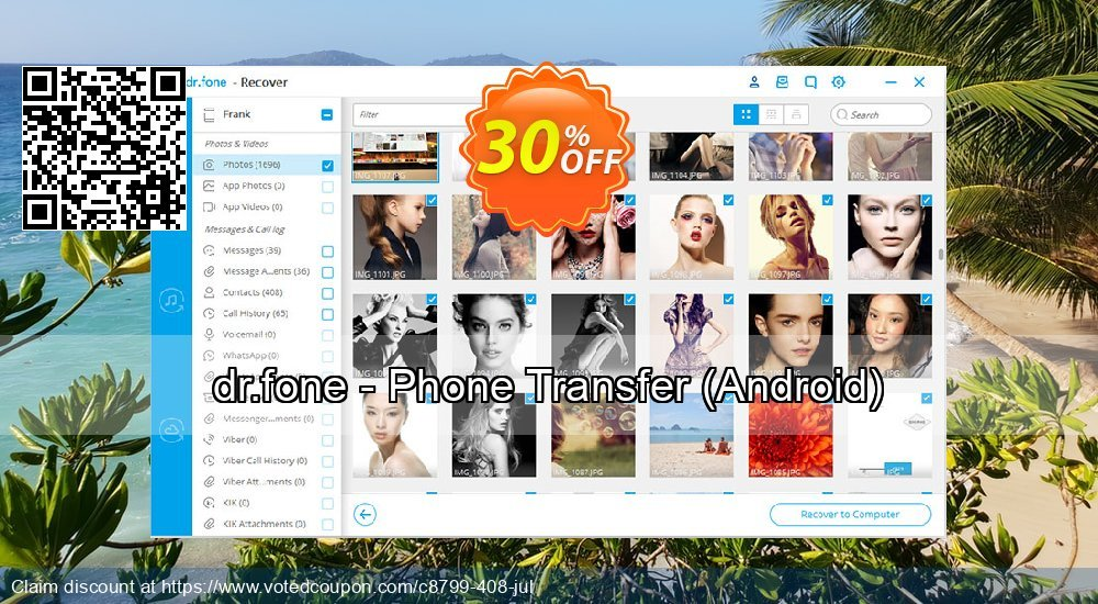 Get 32% OFF dr.fone - Phone Transfer, Android Coupon