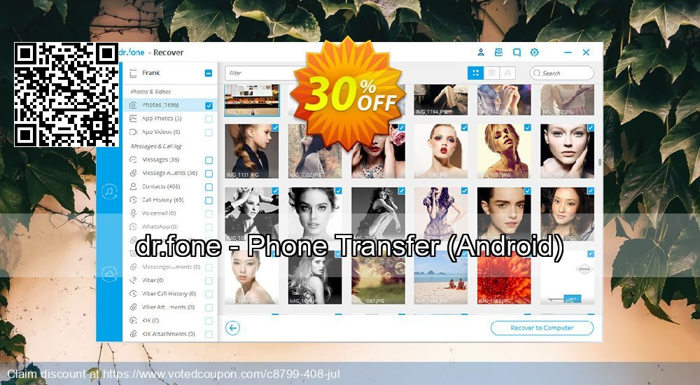 Get 33% OFF dr.fone - Phone Transfer, Android Coupon