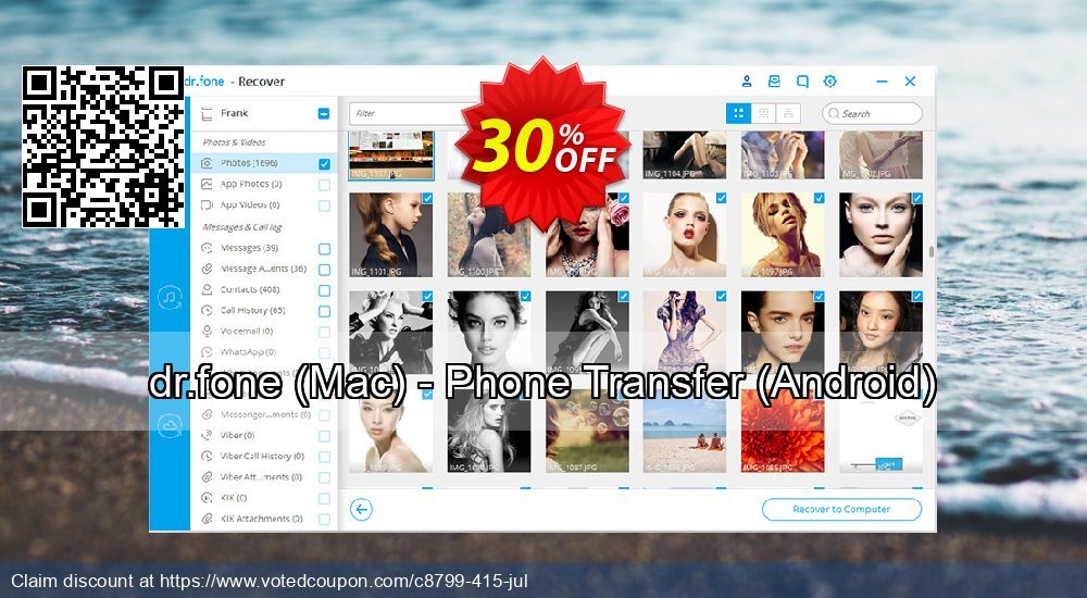 Get 20% OFF dr.fone, Mac - Phone Transfer, Android Coupon