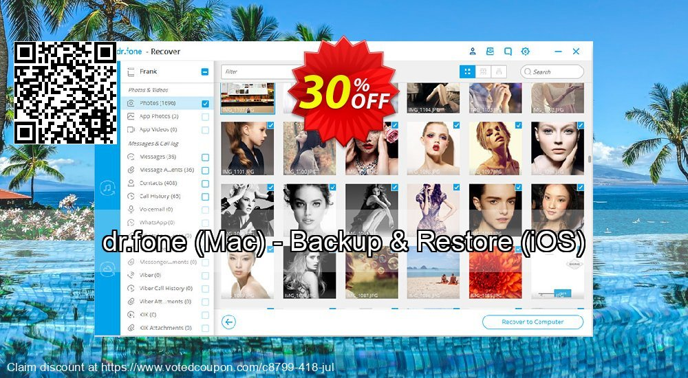 Get 30% OFF dr.fone (Mac) - Backup & Restore (iOS) Coupon